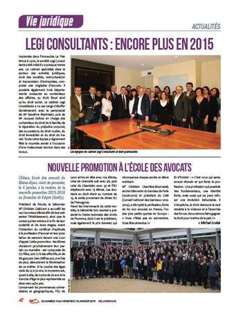 Legi Consultants : encore plus en 2015